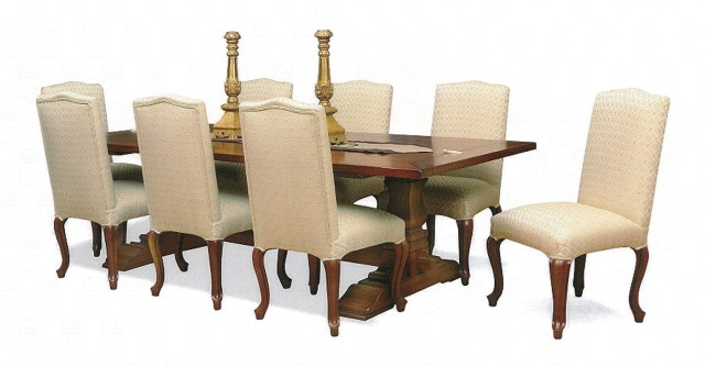 Refrectory dining table