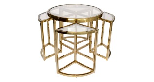 Messina 5pc Nesting Side Table
